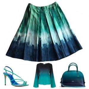 Lord & Taylor Ombre Midi Skirt